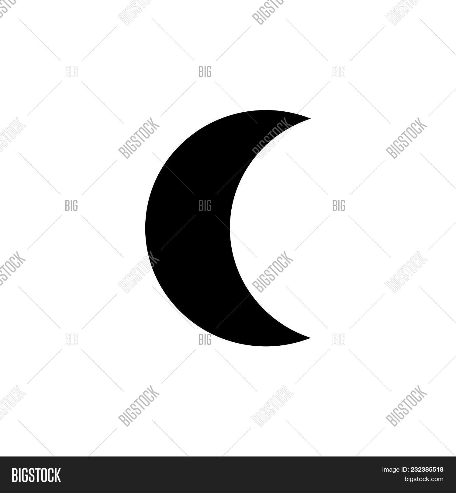 Moon Icon Isolated On Vector Photo Free Trial Bigstock