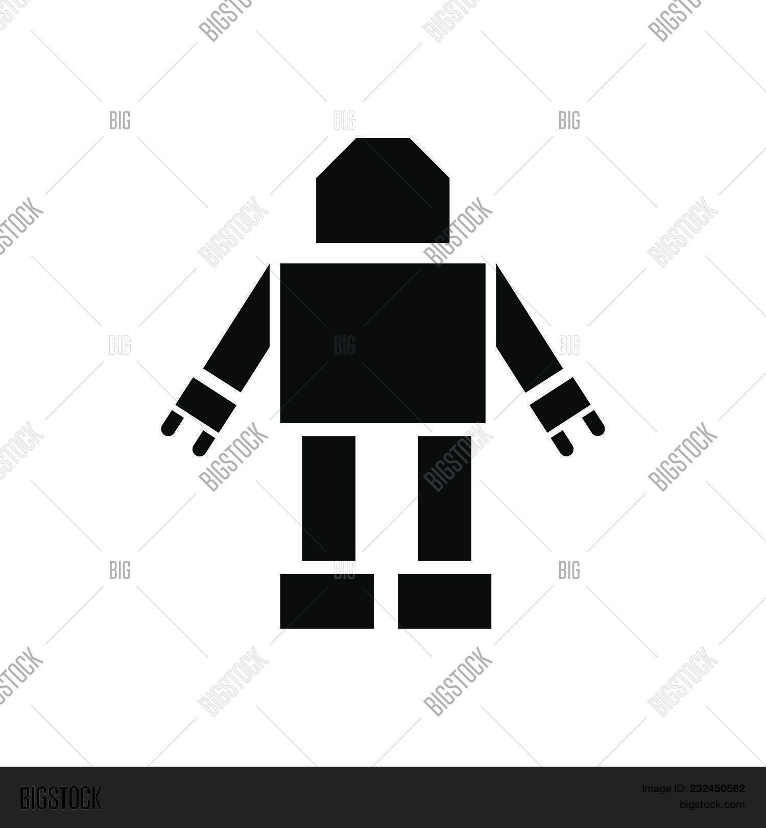 Robot Vector Icon On Vector & Photo (Free Trial) | Bigstock