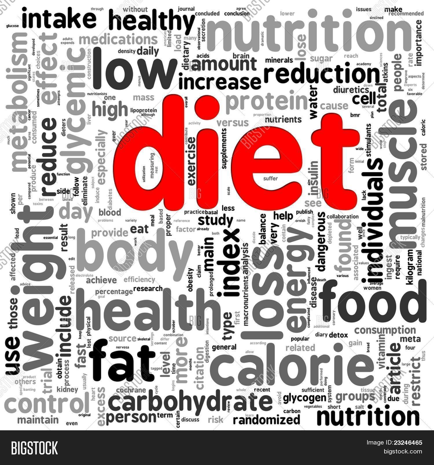 diet related words image photo free trial bigstock