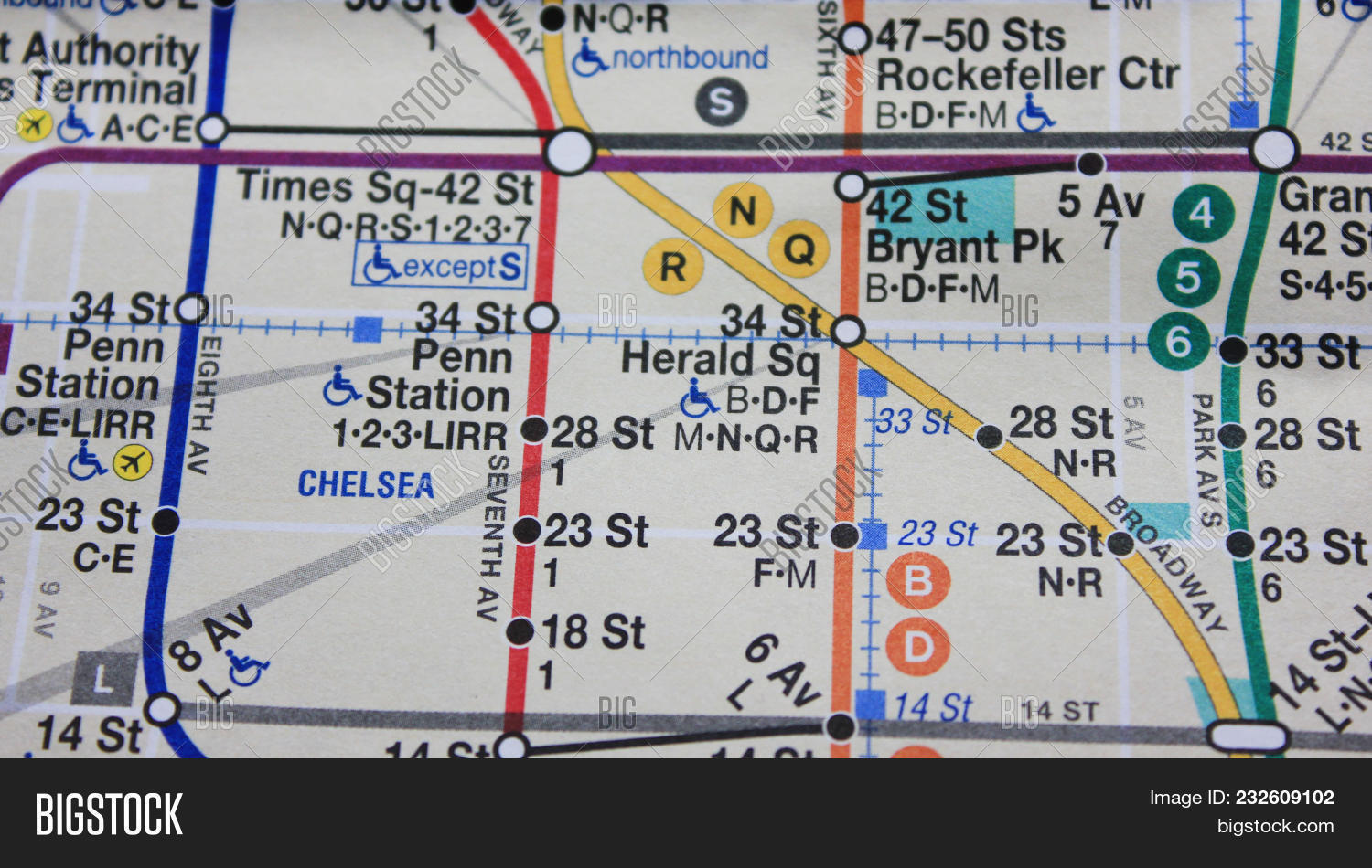 Subway Map New York Manhatten.New York Ny Usa Image Photo Free Trial Bigstock