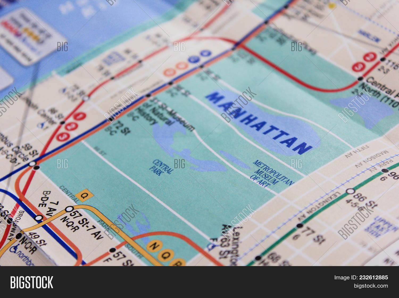 Free Subway Map Of New York City.New York Ny Usa Image Photo Free Trial Bigstock