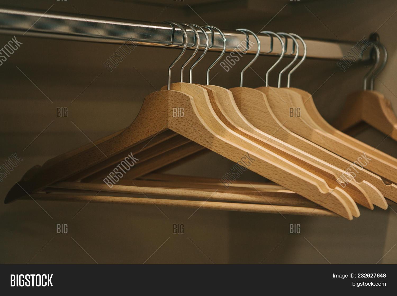 Empty Hangers Hang Row Image Photo Free Trial Bigstock
