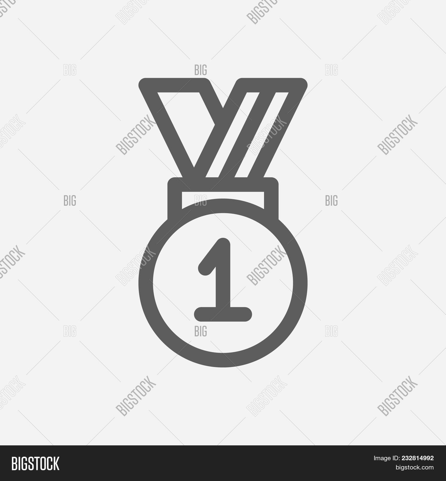 Winner Icon Line Image Photo Free Trial Bigstock