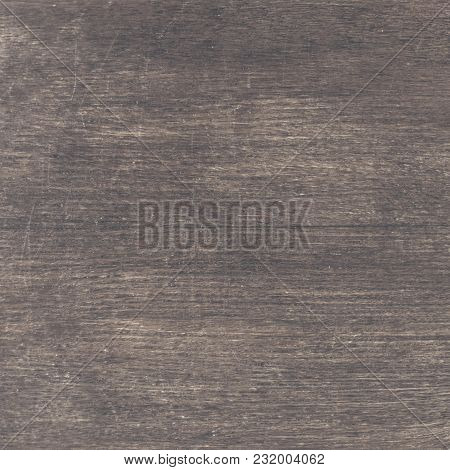 Closeup Of Old Natural Wood Grunge Texture. Dark Surface With Old Natural Wooden Pattern. Vintage Wo