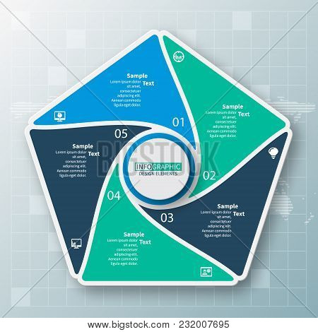 Vector Abstract 3d Paper Infographic Elements.circular Infographics