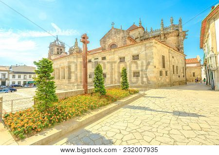 Behind Of The Gothic Braga Cathedral. Se De Braga Is The Oldest Cathedral In Braga Downtown, Portuga