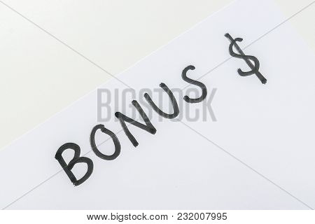 Isolated Business Concept Of Annual Bonus For Employee Reward