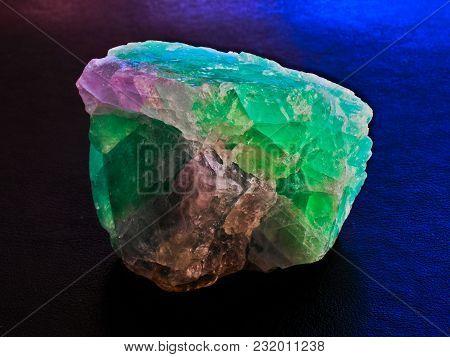 Green Magenta Fluorite Mineral Crystal Stone Gem