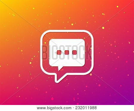 Chat Icon. Speech Bubble Symbol. Soft Color Gradient Background. Speech Bubble With Flat Icon. Vecto