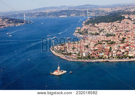 Istanbul Turkey The Bosphorus From The Air