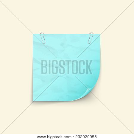 Crumpled Sheet Of Paper For Notes Square Shape  Isolated On White Background