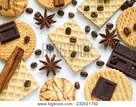 Assorted Cookie Anise Star Coffee Cinnamon Waffles