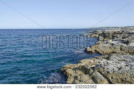 View Of The Beautiful Coast Near Otranto