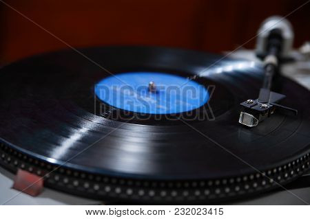 Turntable, Record-player Of Vinyl Disks Close-up, Music