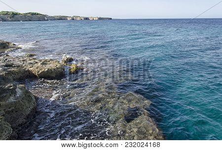 View Of The Beautiful Coastline Near Otranto
