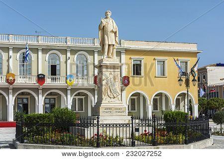 Greece, Zakynthos Island, Zakynthos Island - June 17, 2016: The Monument To The National Poet Dionys