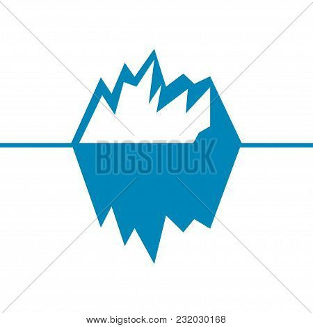 Iceberg Vector Icon Isolated On White Background. Ice Berg Vector Icon.