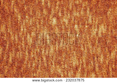 Orange Color Knitting Texture. Abstract Background And Texture For Design.