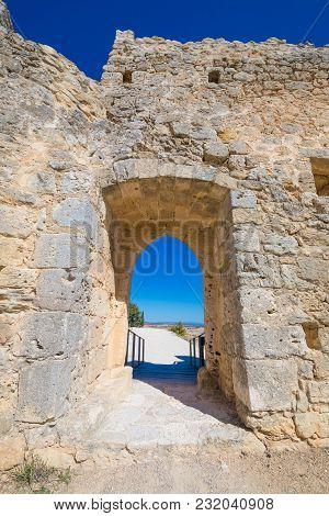 Door In Castle Of Penaranda De Duero