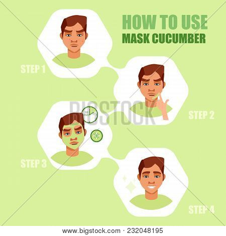 Face Mask. Beauty Men With Face Mask. Different Face Mask Moisturizing, Nourishing, Cleansing, Rejuv