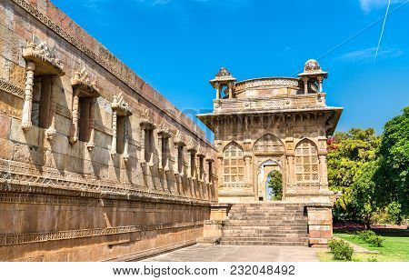 Jami Masjid, a major tourist attraction at Champaner-Pavagadh Archaeological Park - Gujarat state of India poster