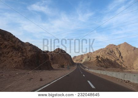 Mountain Road At Hight Speed Drive Downhill