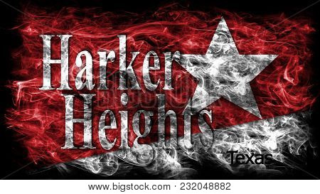 Harker Heights City Smoke Flag, Texas State, United States Of America