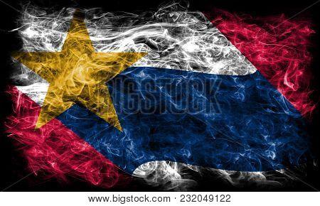 Lafayette City Smoke Flag, Indiana State, United States Of America