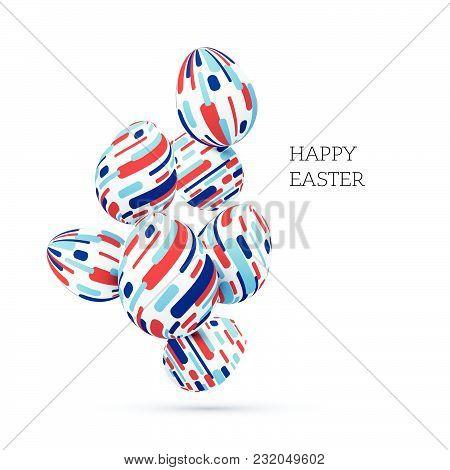 Vector Happy Easter Card Design