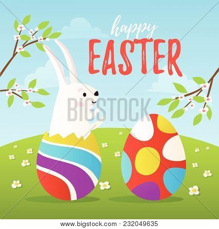Happy Easter Vector Card Design