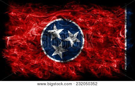 Tennessee State Smoke Flag, United States Of America