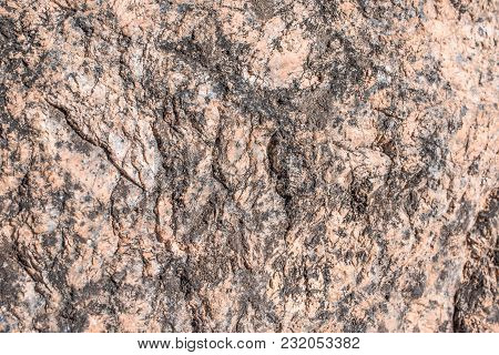 Horizontal Shot Of The Texture Of Stone. Raw Granite