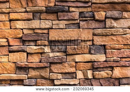 Decoration Stone Walling Tiles, Abstract Background, Seamless Textured