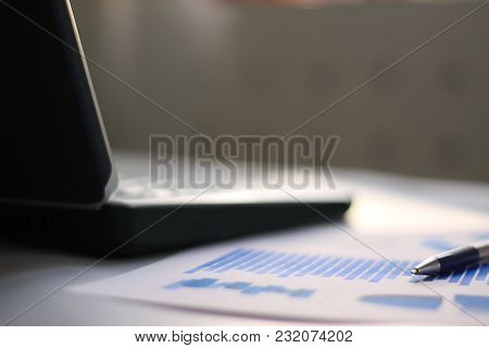 Business Background.statistical Data On The Development Of The Business.business Report, Laptop And