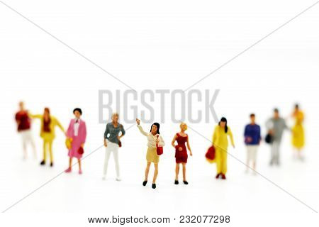 Miniature People: Business Person Candidate People Group. Employer Of Choice, Candidate Selection, A