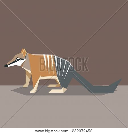 Vector Image Of The Flat Design Numbat