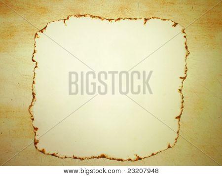 Edge Burnt Paper on Wood