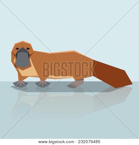 Vector Image Of The Flat Design Platypus