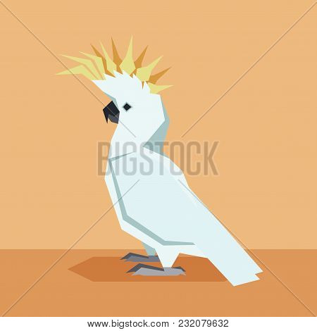 Vector Image Of The Flat Design Kockatoo