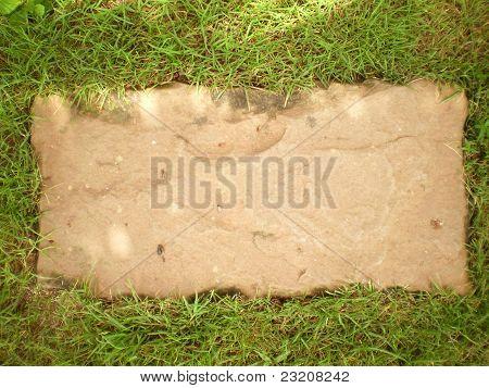 Rock Plate on Grass