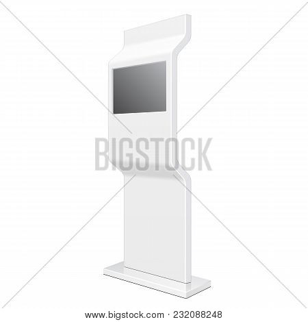 Outdoor Pos Poi City Light Box Advertising Stand Banner Shield Display, Advertising. Illustration Is