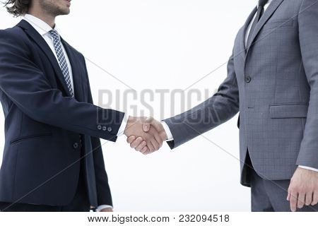 two men meeting and greet