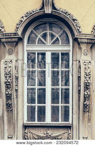 Building window details, Budapest, Hungary
