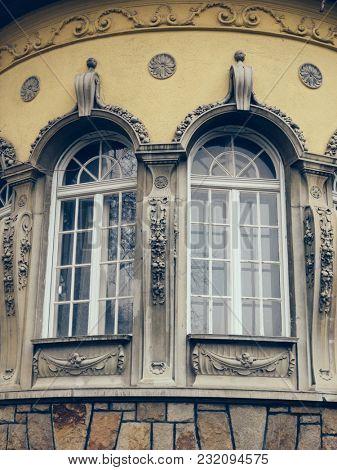 Building details, Budapest, Hungary