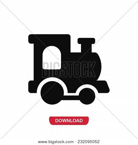 Train Icon Vector In Modern Flat Style For Web, Graphic And Mobile Design. Train Icon Vector Isolate