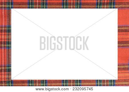 Rectangle With Large Frame With The Texture Of The Famous Tartan Scottish Fabric