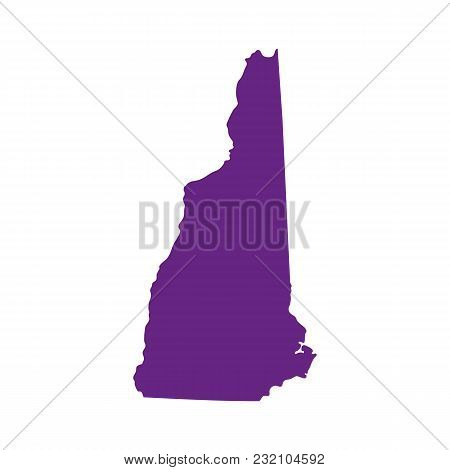 Map Of The U.s. State Of New Hampshire
