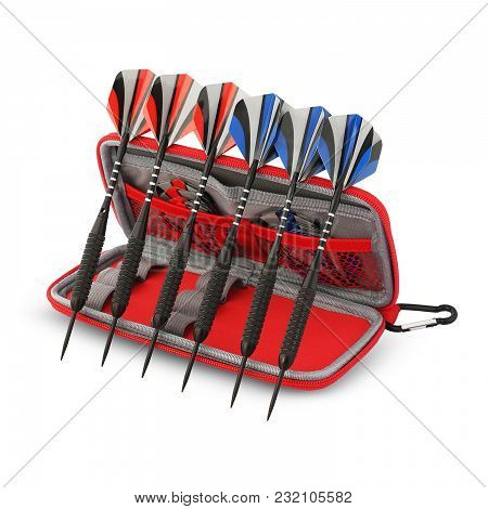 Beautiful Combo Pack Of Arrows In Red Cover Box Mainly Used For Hunting. Present With Crossbow That