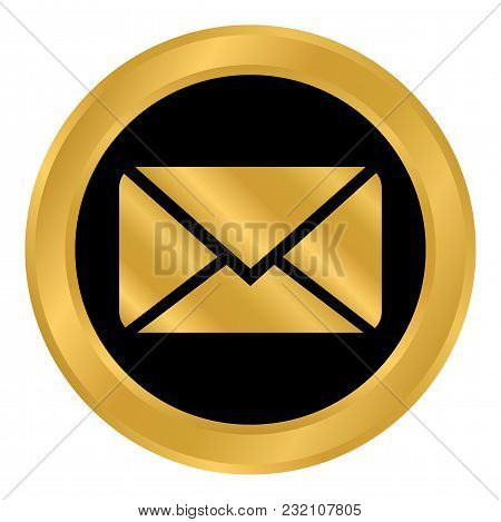 Mail Button On White Background. Vector Illustration.