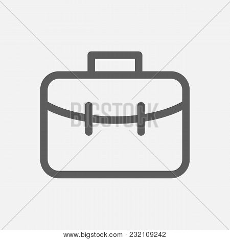 Investor Portfolio Icon Line Symbol. Isolated Vector Illustration Of  Icon Sign Concept For Your Web